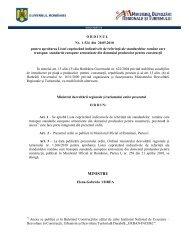 MINISTRU - Ministerul Dezvoltării Regionale şi Turismului