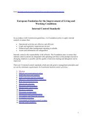 European Fundation for the Improvement of Living and Working ...