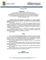 ORDINUL nr. 984/2009 - Ministerul Dezvoltării Regionale şi Turismului