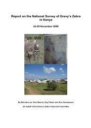 Report on the National Survey of Grevy's Zebra in Kenya