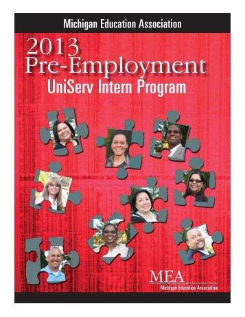UniServ Intern Program - Michigan Education Association