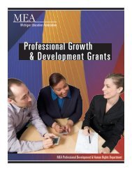 Professional Growth & Development Grants - Michigan Education ...