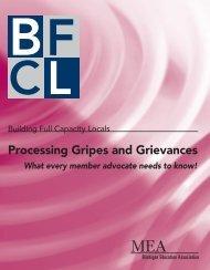 Processing Gripes and Grievances - Michigan Education Association