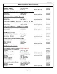 MEA Field Services Division Directory - Michigan Education ...