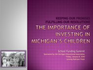 Keeping Our Promises - Michigan Education Association