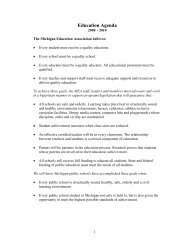 2008-2010 Legislative Priorities - Michigan Education Association