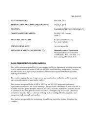 MS 43-11-12 DATE OF POSTING - Michigan Education Association
