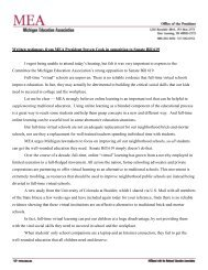 written testimony from President Cook along with research