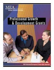 Professional Growth & Development Grants - Michigan Education ...