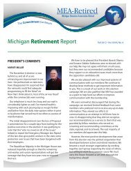 Michigan Retirement Report - Michigan Education Association