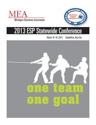 2013 ESP Statewide Conference - Michigan Education Association