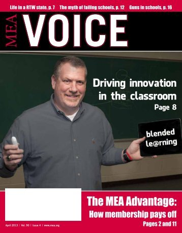 April edition of the MEA Voice - Michigan Education Association