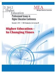Professional Issues in Higher Education Conference - Michigan ...