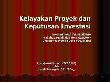 Kelayakan Proyek dan Keputusan Investasi Program Studi Teknik ...