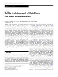 Modelling of anisotropic growth in biological tissues