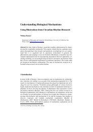 Understanding biological mechanisms: Using ... - William Bechtel