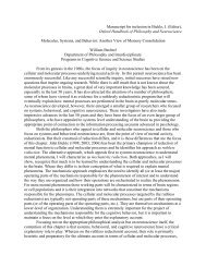 Manuscript for inclusion in Bickle, J. (Editor ... - William Bechtel