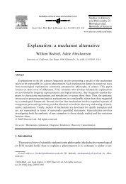 Explanation: a mechanist alternative