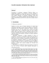 Scientific Explanation: Mechanistic, Ontic, Epistemic - UC San Diego