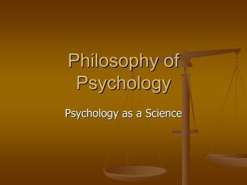 Introductory Class: Psychology as a Science