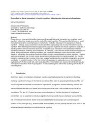On the Role of Social Interaction in Social Cognition: A Mechanistic ...