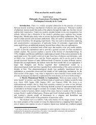 1 When mechanistic models explain Carl Craver Philosophy ...