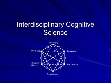 February 11: Interdisciplinary Cognitive Science