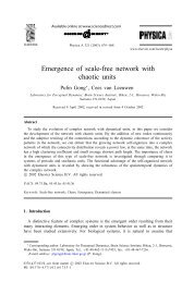 Emergence of scale-free network with chaotic units