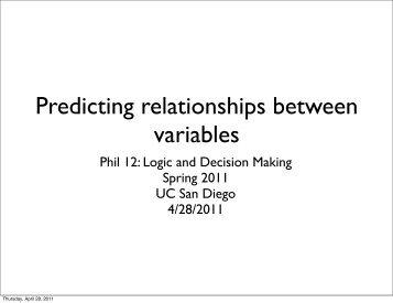Predicting relationships between variables - UC San Diego