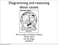 Diagramming and reasoning about causes - UC San Diego