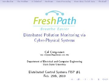 Distributed Pollution Monitoring via Cyber-Physical Systems