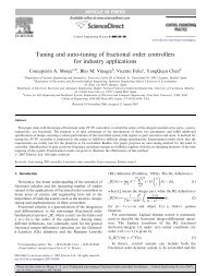 Tuning and auto-tuning of fractional order controllers - mechatronics ...