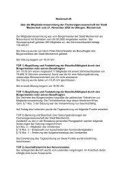 Niederschrift über die Mitgliederversammlung ... - Stadt Mechernich