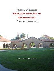 MASTER OF SCIENCE - Stanford University School of Medicine
