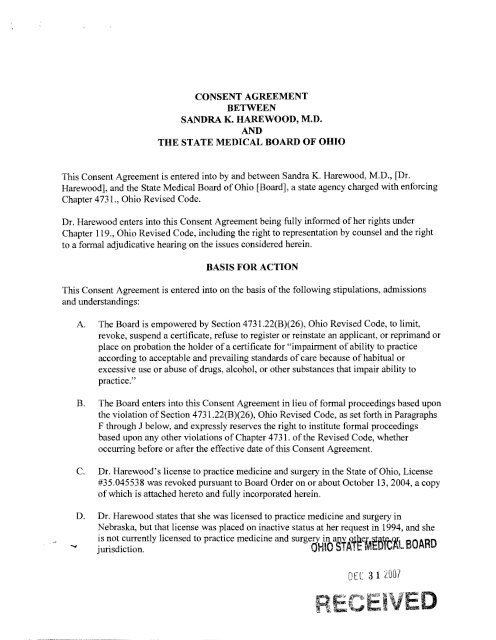 Ohio License Status >> Untitled State Medical Board Of Ohio State Of Ohio