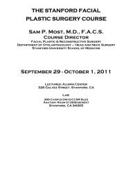 THE STANFORD FACIAL PLASTIC SURGERY COURSE Sam P ...