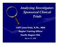 Analyzing Investigator- Sponsored Clinical Trials