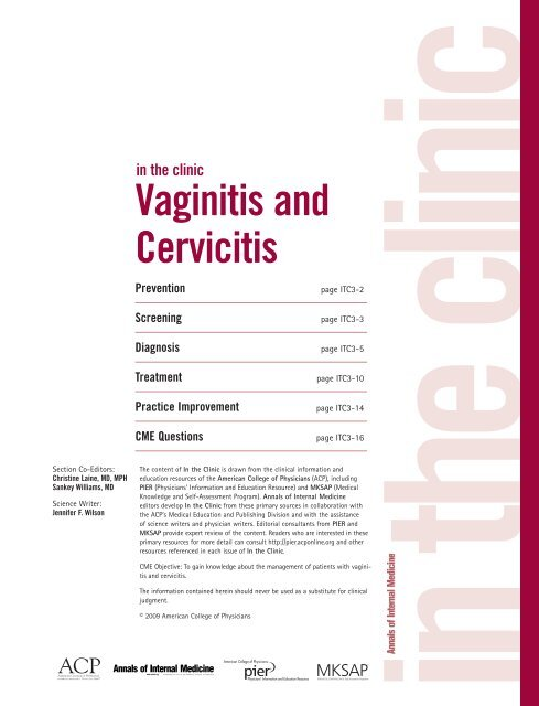 Vaginitis and Cervicitis - The University of Chicago