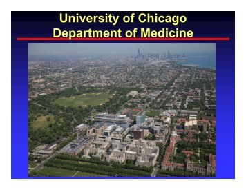 University of Chicago Department of Medicine - The University of ...