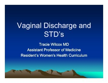 Vaginal Discharge And STD