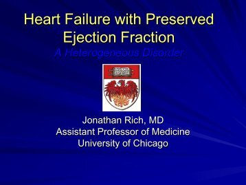 CHF with Preserved EF 2011-2012 Lecture JR - The University of ...