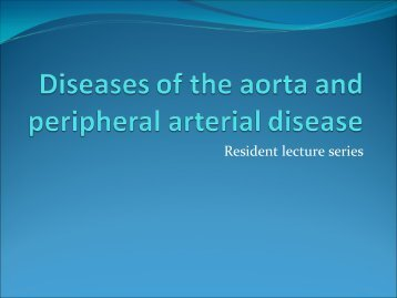 PAD and Aortic disease Cards Lecture Series 2012