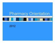 Pharmacy Orientation - The University of Chicago Department of ...