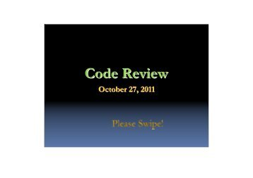 Code Review 6/12/2008