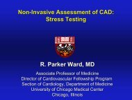 Chronic CAD Cardiology Lecture Series 2011-2012 - The University ...