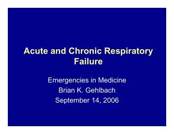 Acute and Chronic Respiratory Failure