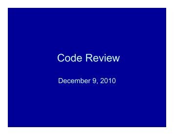 Code Review Code Review