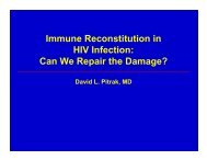 Immune Reconstitution in HIV Infection: Can We Repair the Damage?