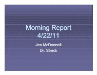 Morning Report 4/22/11