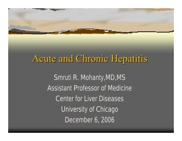 Acute and Chronic Hepatitis - The University of Chicago Department ...